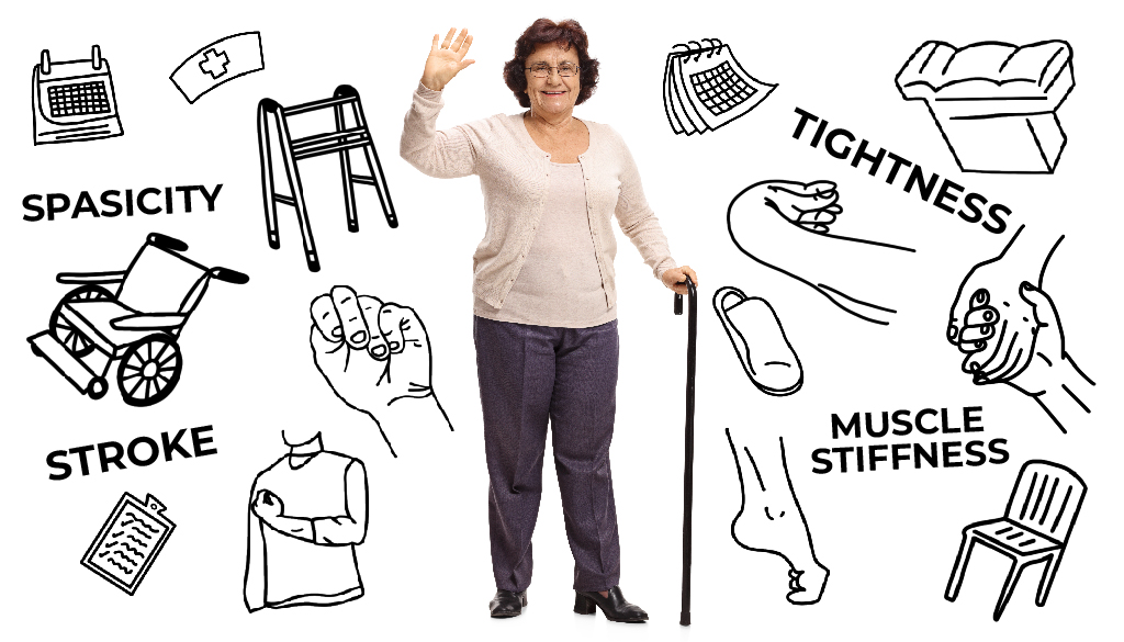 woman with spasticity items